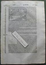 """Belgio, TOURNAI. Xilo da """"Filippo Foresti"""", anno 1503"""