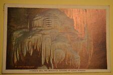 TITANIA'S VEIL, LURAY CAVERNS, VIRGINIA 1936  POSTCARD