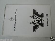 MATCHLESS AJS VERENIGING NEDERLAND KALENDER 1992 SILVER HAWK,G3L,BOY RACER,G80S,