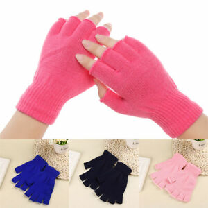 Soft Couple Hand Warmers Fingerless Knitted Gloves Winter Thermal Warm 1Pair new