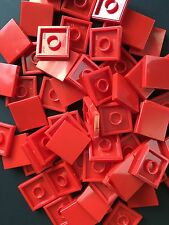 Lego Red 2X2 Smooth Finishing Tile 2x2 MODULAR BUILDINGS Bricks LOT OF 50