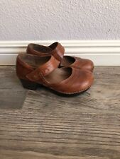 Women's Dansko Harlow Mary Jane Leather Clogs Shoes Sz 36