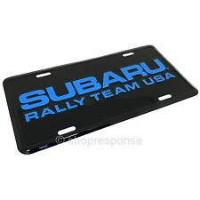 Subaru Rally Team USA License Plate Number Plate Aluminum Black/Blue Official
