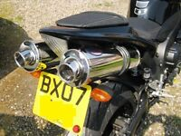 Yamaha YZF1000 R1 4C8 2007-2008 Stainless round ROAD LEGAL Motorbike Exhausts
