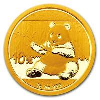 999 Or Pièce en or Chine Panda 2017 Yuan 1 - 8 grammes Gram pièce d'OR