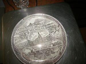 """Vintage Michigan Water Wonderland Collector Plate 7 1/4"""""""
