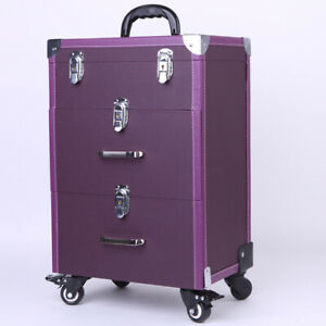 Beauty Make Up Case Hairdressing Nail Technician Vanity Cosmetic Storage Trolley