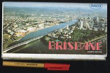 Vintage Gregory's 32-panel MAP of BRISBANE 16-panels per side