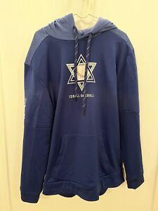 Team Israel Baseball Olympics Team Issued Majestic Hoodie Sweatshirt Tokyo 2020