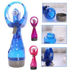Portable Hand Held Battery Power Fan Air Water Mist Bottle Cooling Spray Office