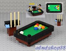 LEGO - Pool Snooker Billiards Table Cue Stick - Black Brown Minifigure Furniture