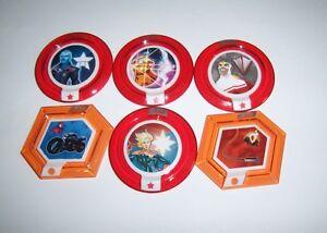 DISNEY INFINITY 2.0 Marvel Heroes Power Disc Lot 6 Rares Ultimate Falcon Captain