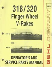Gehl Company Finger Wheel V Rakes 318320 Tractor Parts Operators Manual