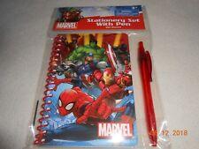 New Marvel kids 60 sheets stationery set w/ pen back to school