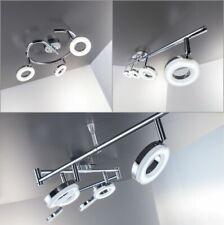 LED Decken-Leuchte Chrom modern Lampe Wohnzimmer Spot Strahler drehbar Donut