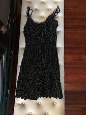 SHAKUHACHI BLACK BEADED  DRESS SIZE 6 RRP $459