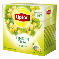 LIPTON Herbal Infusion Linden 6 x 20 bags = 120 pyramid tea bags sealed boxes