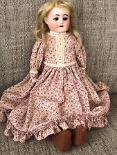 Antique German 15 � Bisque Heinrich Handwerck Doll Kid Body Marked Hch 6/0 H