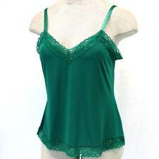 Susan Graver Plus Size Green Lace Sleeveless Tank Top Chemise Stretch 3X
