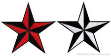 LOT of TWO NAUTICAL STAR IRON-ON PATCHES embroidered NAVY VET TEXAS FLAG EMBLEM