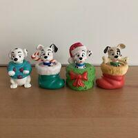 Vintage 1996 Disney's 101 Dalmatians 4 McDonald's Happy Meal Dog Ornaments Toys
