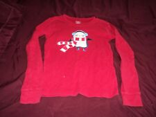 Girl's red long sleeve red tee with penguin ~ Sz 10 ~ Gymboree ~ Cotton
