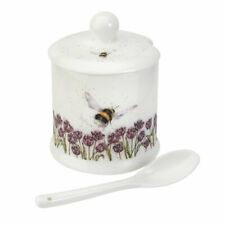 Wrendale Designs Conserve Pot with Spoon Bumblebee Jam Pot Marmalade Tableware