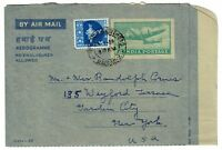 India 1959 Aerogramme Cover to USA - Lot 100917