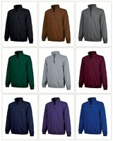 Mens Quarter 1/4 Zip Zipper Heavy Weight Cotton Blend Sweatshirt Pullover Top