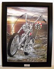 Easy Rider Harley Davidson Chopper Framed Signed Motorcycle Art Print by John G