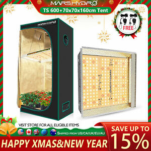 Mars Hydro TS 600W Led Grow Light Veg Flower Plant +2'x2' Indoor Grow Tent Kit