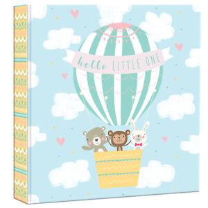 "Cute Hello Little One Baby Photo Album Slip In 6x4"" 200 Photos Pink Blue"