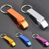 1x Metal Openers Key Chain Keychain Ring Beer Bottle Can Opener Beverage JH