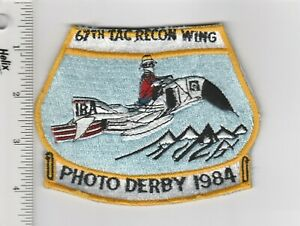 US Air Force Patch 67 Tactical Reconnaissance Wing Photo Derby 1984