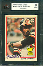 1978 OPC #154 Eddie Murray Rookie KSA 9 Mint