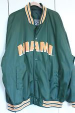 "Steve & Berry ""Miami""  Vintage Letterman Jacket Green Orange XXL"