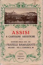 ASSISI – 8 CARTOLINE FP CON PUBBLICITÀ AMARO RAMAZZOTTI – IN CUSTODIA EDITORIALE