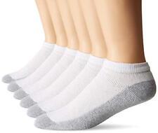 Fruit Of The Loom Men's 6 Pack Cushion Low Cut Socks, White, Shoe: 6-12