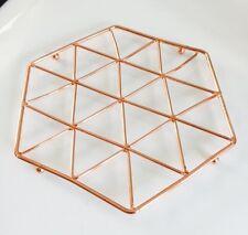 Modern RAME Sottopentola da cucina in Oro Rosa Stampa Geometrica piano di lavoro Saver Home Accessories