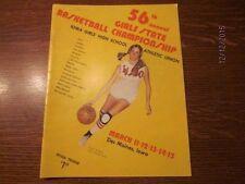 1975 Iowa High School Girls State Basketball Championship Official Program