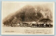 Postcard AK Juneau Alaska c1930s View of City From Water RPPC Real Photo AG1