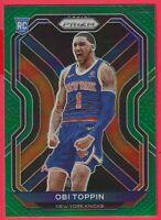 2020-21 Panini Prizm Obi Toppin Green Variation Rookie RC #280 New York Knicks
