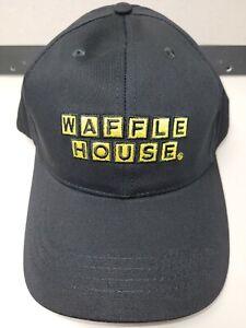 NEW Waffle House Black Yellow Hat Employee Uniform Adjustable Cap Cotton