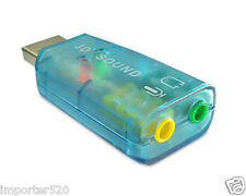 Blue External USB 2.0 to 3D Virtual Audio Sound Card Adapter Converter 7.1 CH