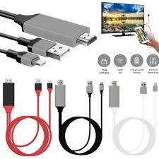 1080P 8Pin a HDMI HDTV TV AV Cable Adaptador para iPad iPhone 7 8 XR 11 Pro Max