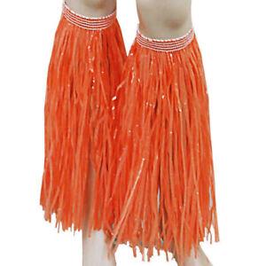 Hawaiian Grass Hula Leg Cuffs Skirt Luau Lei Fancy Dress Beach Party Ladies Unis