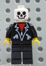 Lego MINIFIG SKELETON White Head Black Legs - Classic Town Minifigure Halloween