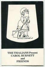 "Vintage Charity Event Ticket Stub: ""Thalians Present Carol Burnett & Friends"""