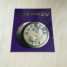 Supreme sticker vinyl decal skateboard lude pill 714 reflective have nice day