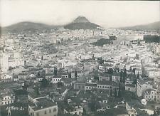 Grèce, Athènes, vue panoramique  Vintage silver print,  Tirage argentique